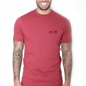 Brand Tee Small Logo BLACK Bordeaux Red